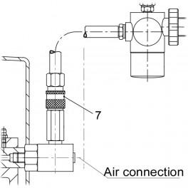 Schnellverschlußkupplung Luft