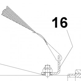 Forward support for shoulder strap